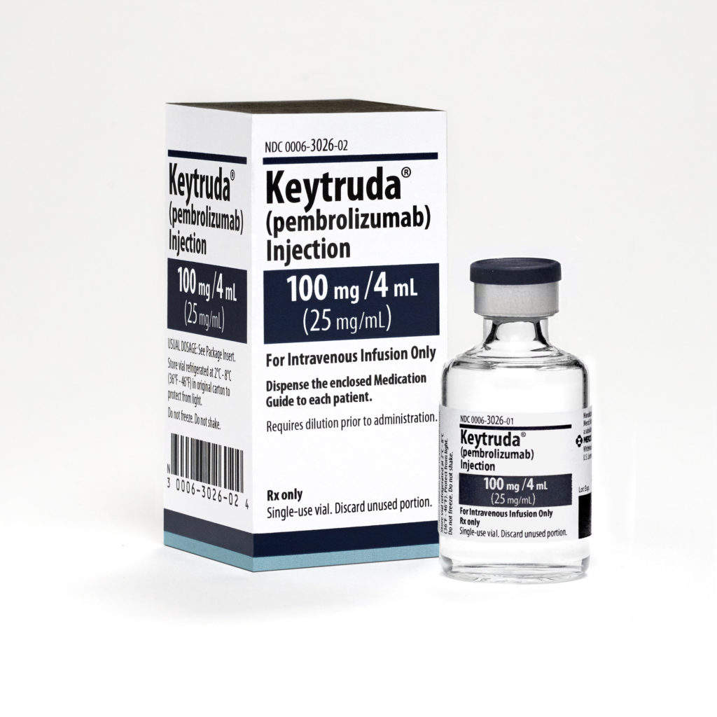 Keytruda 100mg/4mL Vial and Carton